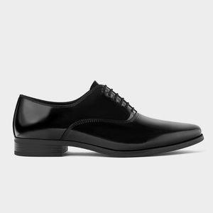 Zara dress shiny shoe
